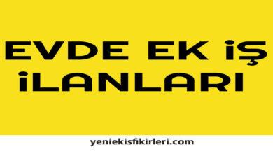 Photo of Evde Ek İş İlanları İstanbul Anadolu Yakası